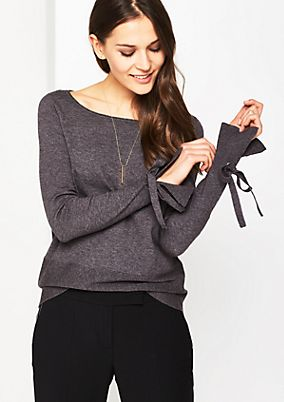 Knitted jumper with elegant details from comma