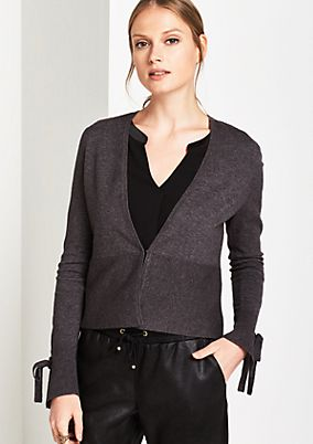 Smart cardigan with long sleeves from comma