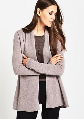 Soft, long cardigan with a shawl collar from comma