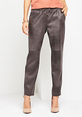 Extravagant lounge trousers in faux leather from s.Oliver