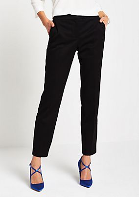 Elegant business trousers with tonal minimal pattern from comma