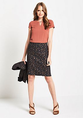 Elegant business skirt with a jacquard pattern from comma