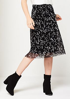 Delicate mesh skirt with an all-over pattern from comma