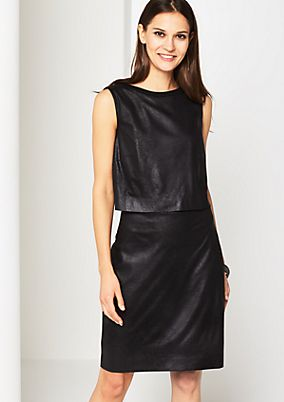Elegant business dress in faux leather from s.Oliver