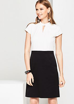 Elegant business dress in a two-tone look from comma