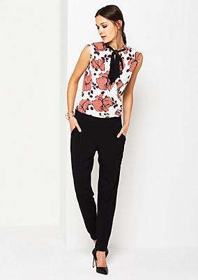 Jersey jumpsuit with a floral pattern from s.Oliver