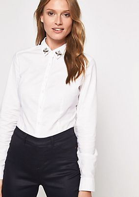 Elegant business blouse with a changeable collar from s.Oliver