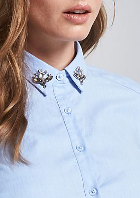 Elegant business blouse with a changeable collar from comma