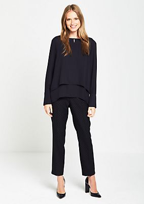 Elegant crêpe blouse in a layered look from s.Oliver