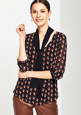 Crêpe blouse with a beautiful all-over print from s.Oliver