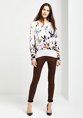 Crêpe blouse in a smart layered look from s.Oliver