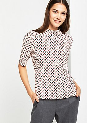Short sleeve top with an all-over pattern from comma