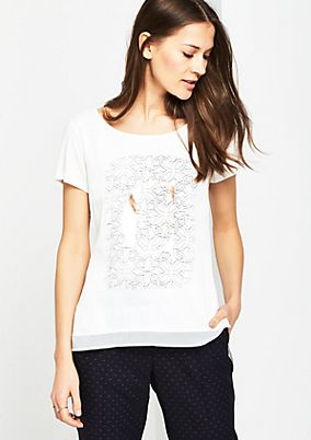 Jersey short sleeve top in a casual layered look from comma