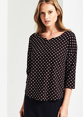3/4-sleeve top with a beautiful all-over pattern from comma
