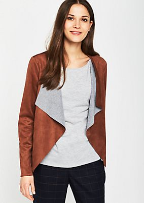 Lightweight jacket in soft faux leather from comma