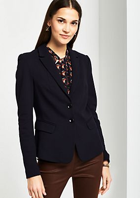Business blazer with decorative details from s.Oliver