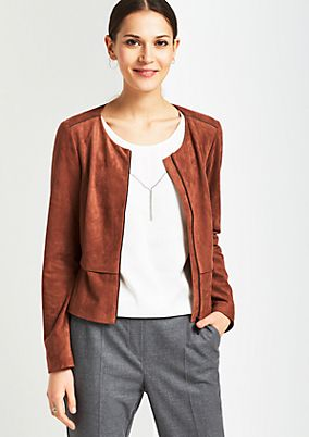 Extravagant short blazer in velour from s.Oliver