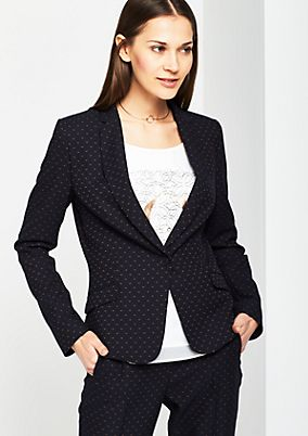 Elegant business blazer with a minimal pattern from comma
