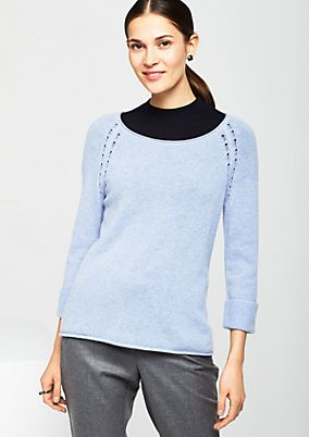 Cosy knit jumper with 3/4-length sleeves from comma