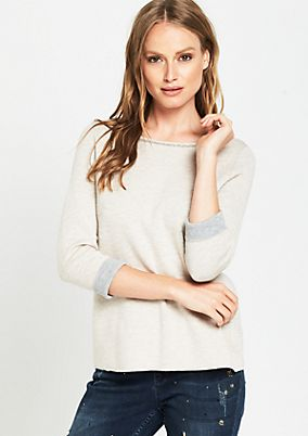 Elegant knit jumper with 3/4-length sleeves from comma