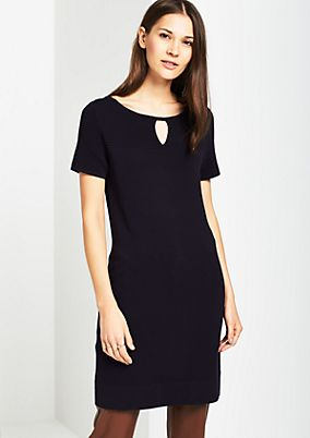 Classic knitted dress with short sleeves from comma