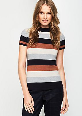 Knit jumper with stripes from comma