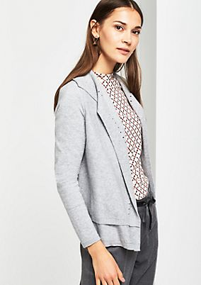 Cardigan with a sophisticated openwork pattern from comma