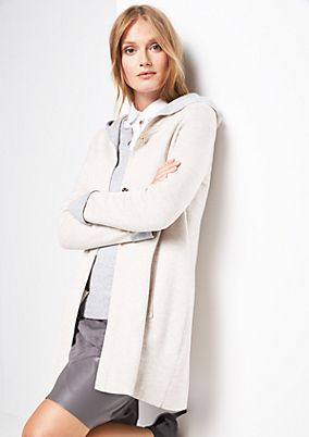 Long jersey jacket with a hood from s.Oliver
