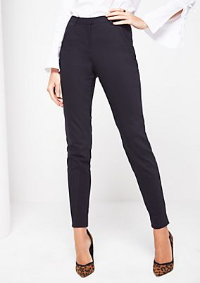 Elegant skinny trousers with sophisticated details from comma