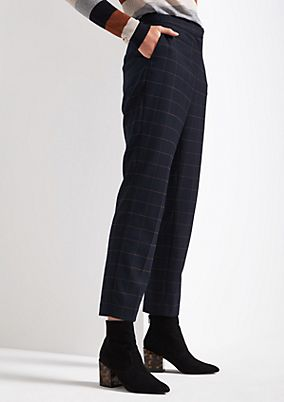 Flannel trousers in a check look from comma