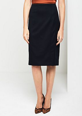 Elegant flannel skirt with fine details from comma