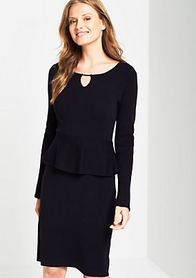 Elegant business dress with a peplum from s.Oliver