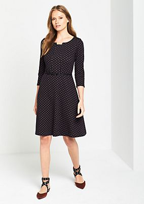 Casual dress with a decorative minimal pattern from comma