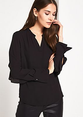 Crêpe blouse with frill embellishments from comma