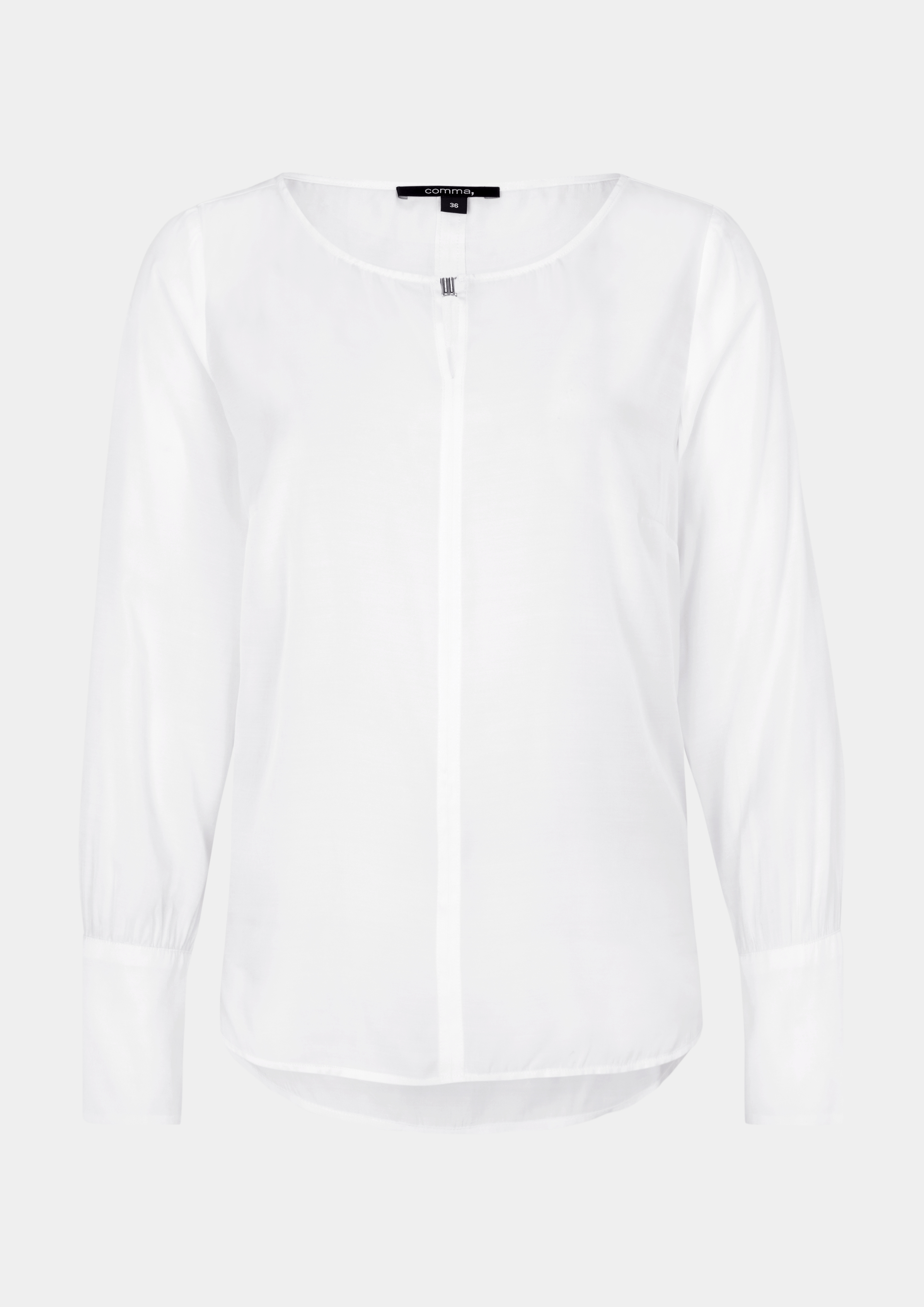 Satinbluse   Bekleidung > Blusen > Satinblusen   Weiß   55% viskose -  45% polyester   comma