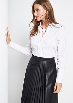 Elegant shirt blouse with sophisticated details from comma