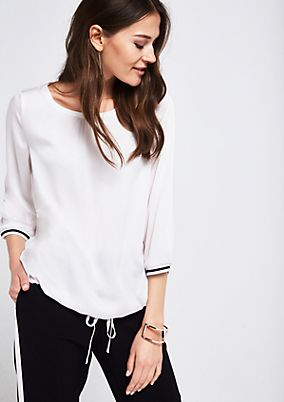 Delicate satin blouse with 3/4-length sleeves from comma