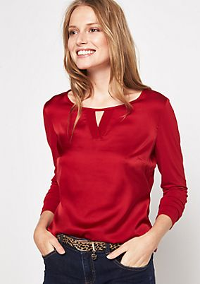 Long sleeve top in a material mix from comma