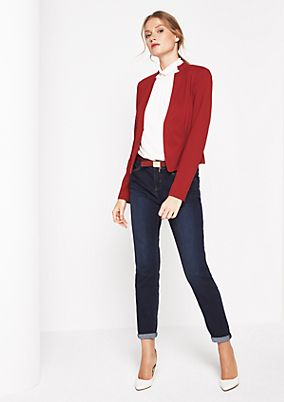 Elegant short blazer with sophisticated details from comma