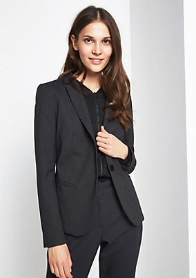 Elegant blazer with a micro pattern from comma