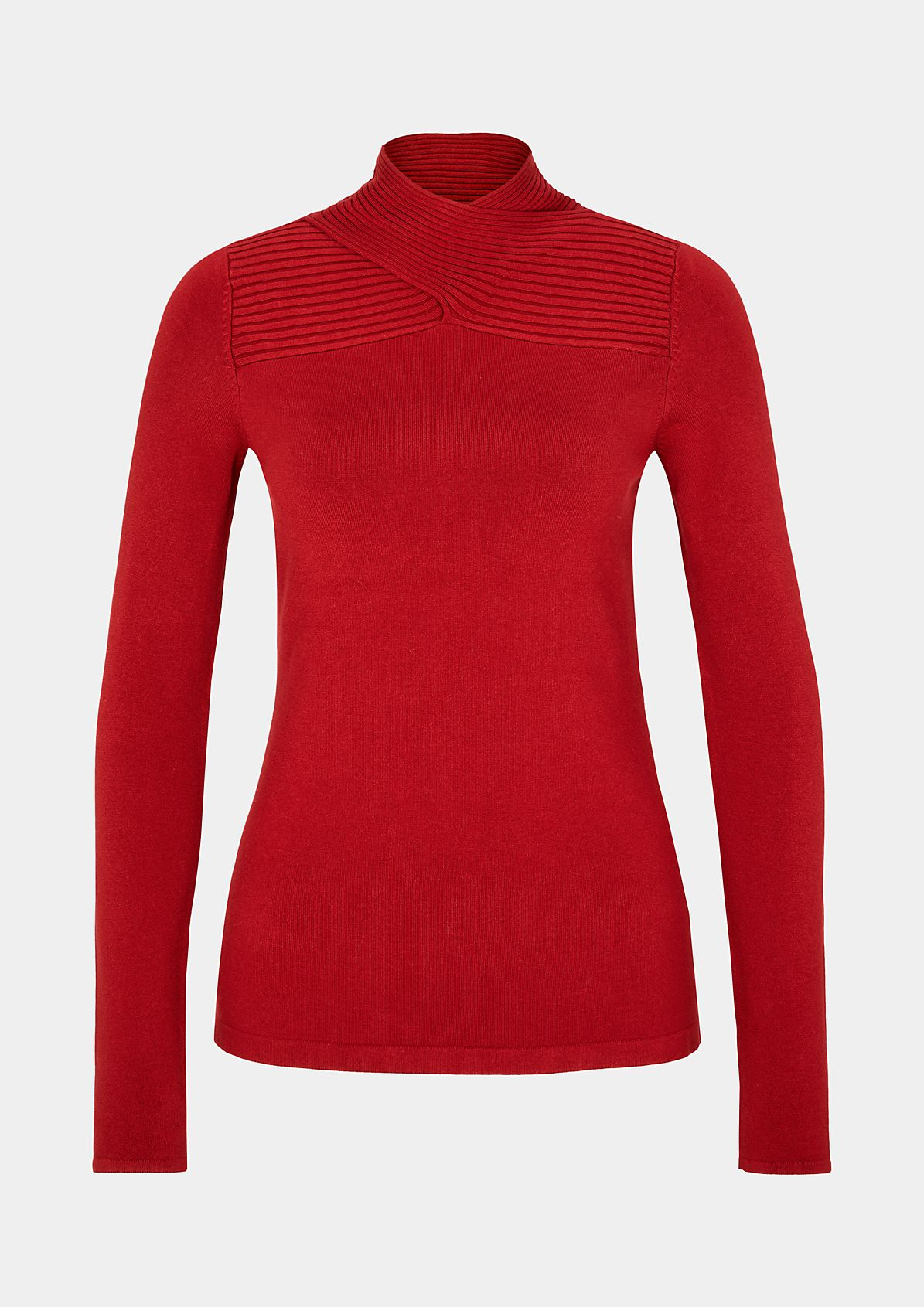 Fine knit jumper with extravagant details from comma