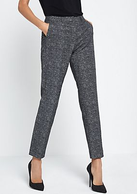 Business trousers with a classic salt-and-pepper pattern from comma
