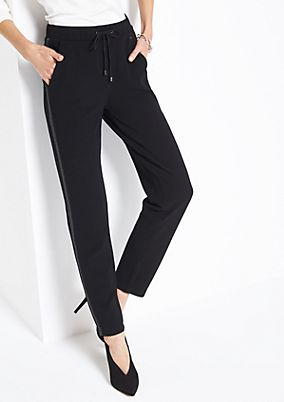 Lounge trousers with elaborate details from comma