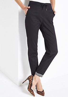 Business trousers in a casual loungewear look from comma