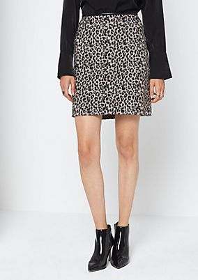 Short wool-look business skirt from comma