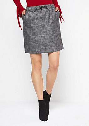 Short business skirt with a houndstooth pattern from comma