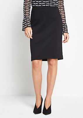 Business skirt with decorative details from s.Oliver
