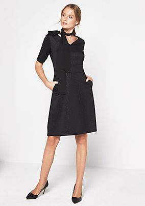 Elegant business dress with a tonal leopard print pattern from comma