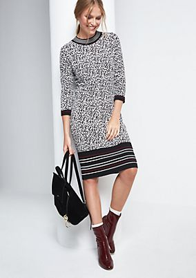 Casual dress in a glamorous leopard look from comma