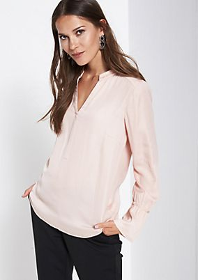 Elegant satin blouse with fine details from comma